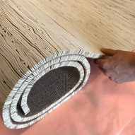 Palm leather rugs are vegan alternative to cow hide