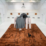 Architectural Association creates terracotta floor show for Samuel Ross' Nike collection