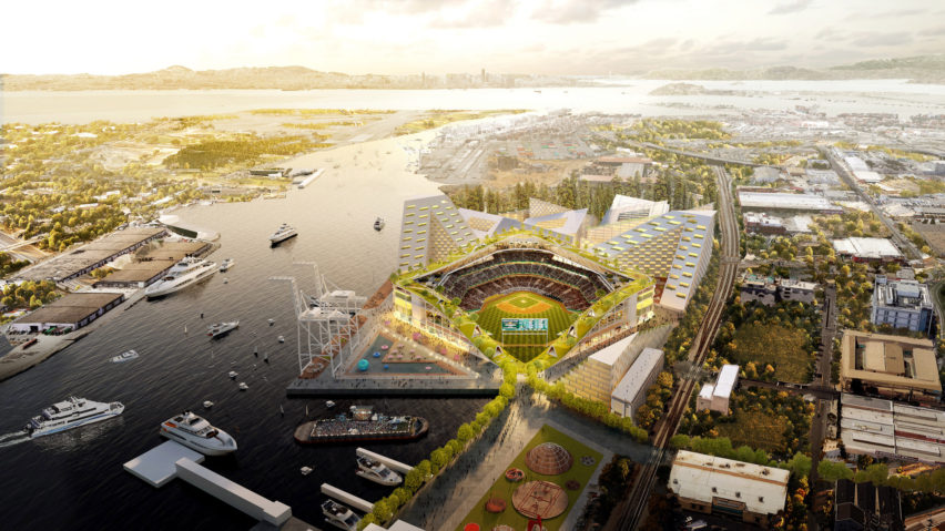 Oakland A stadium by BIG
