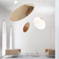 Daniel Rybakken's minimalist Amisol lamp for Luceplan recalls a solar sail