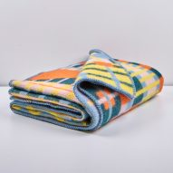 ZigZagZurich use twisted yarns to create Bauhaus-inspired blankets