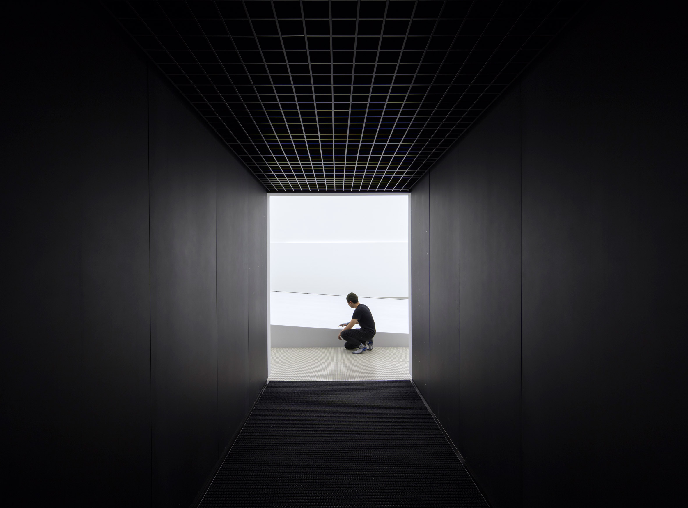 Vantablack pavilion by Asif Khan, Pyeongchang, South Korea