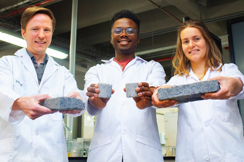 Bio-bricks from human urine by University of Cape Town