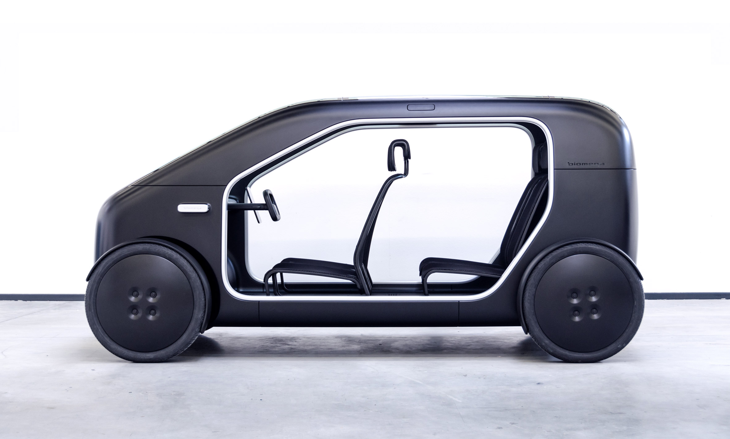 SIN is a Biomega electric car that is low-cost and low-weight