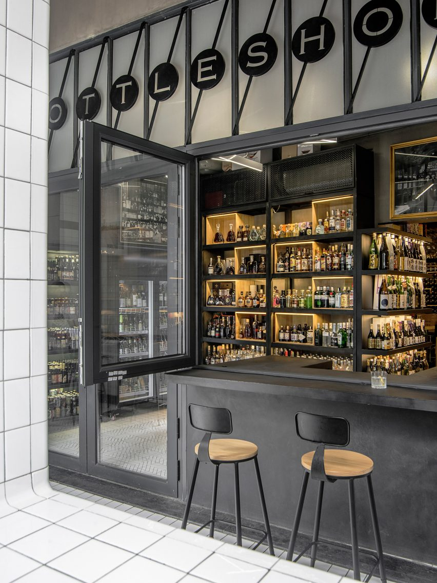 Architectural studio Designreserve have created a liquor store-cum-bar in Sanlitum, Beijing