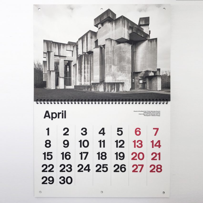 Christmas 2018 gifts for architects and designers: Brutalist Calendar by Blue Crow Media
