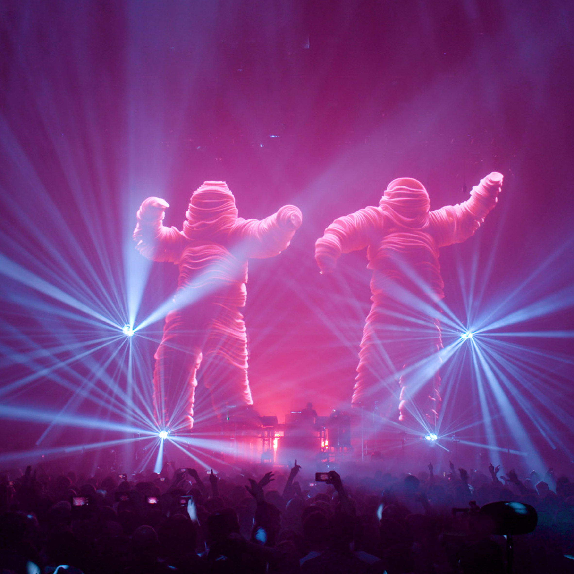 marcus lyall and adam smith show designers for the chemical brothers