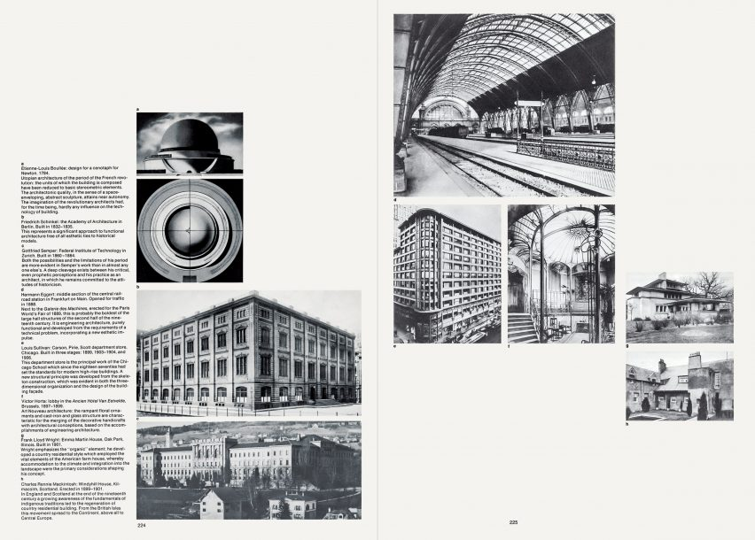 Spread from Bauhaus book by Hans M Wingler