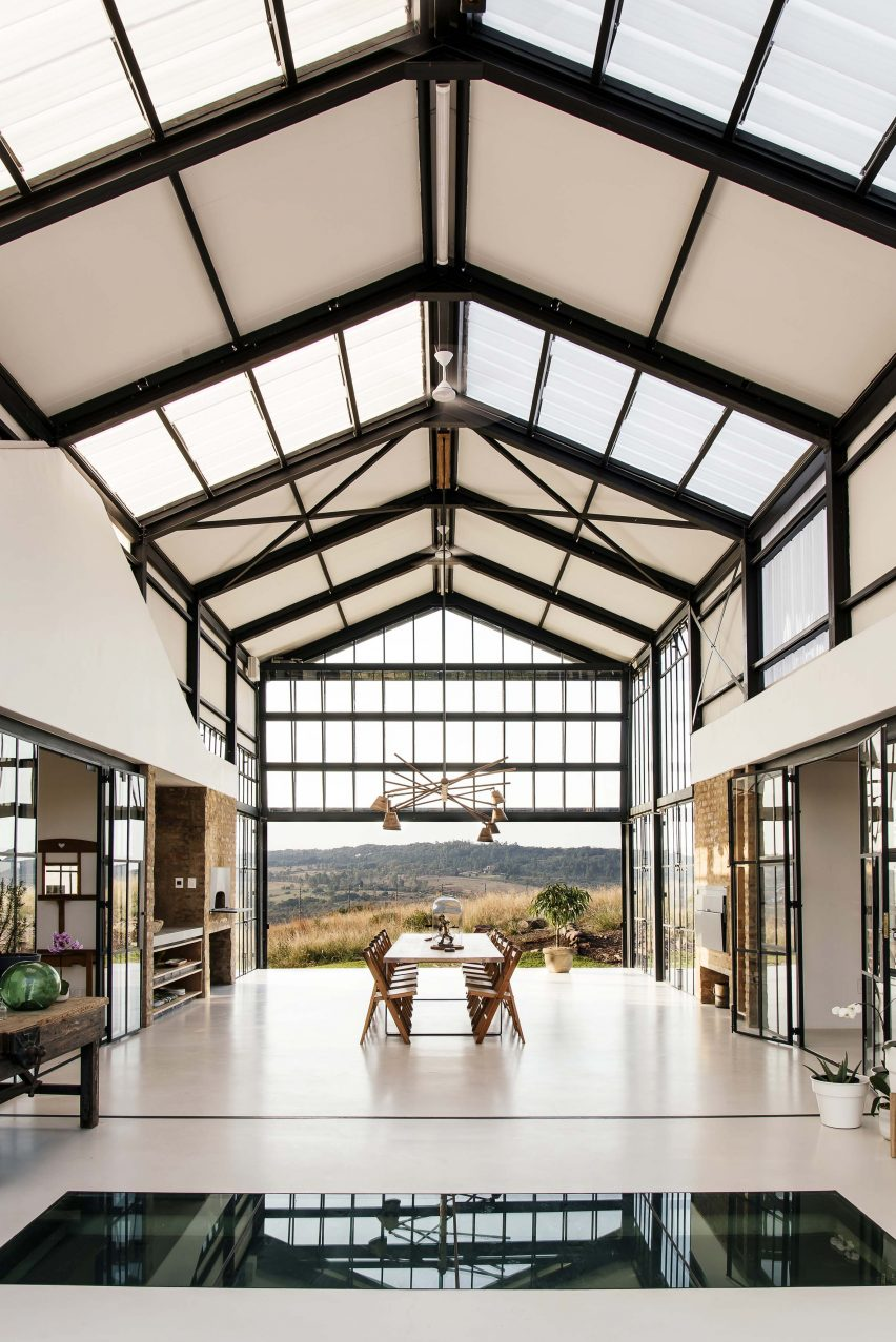 Interiors of Conservatory House by Nadine Englebrecht in South Africa