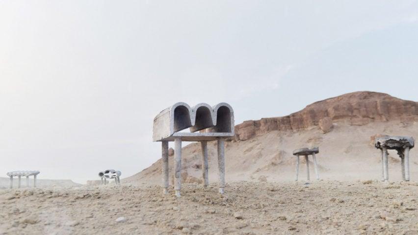 Новый кувейтский дизайн в серии стульев