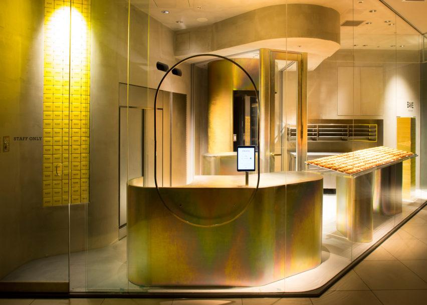 Dezeen Awards interiors winners: Bake Cheese Tart Shop Abeno Harukas by Yagyug Douguten