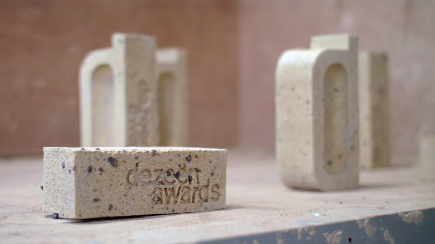 Atelier NL designed the trophy for Dezeen Awards