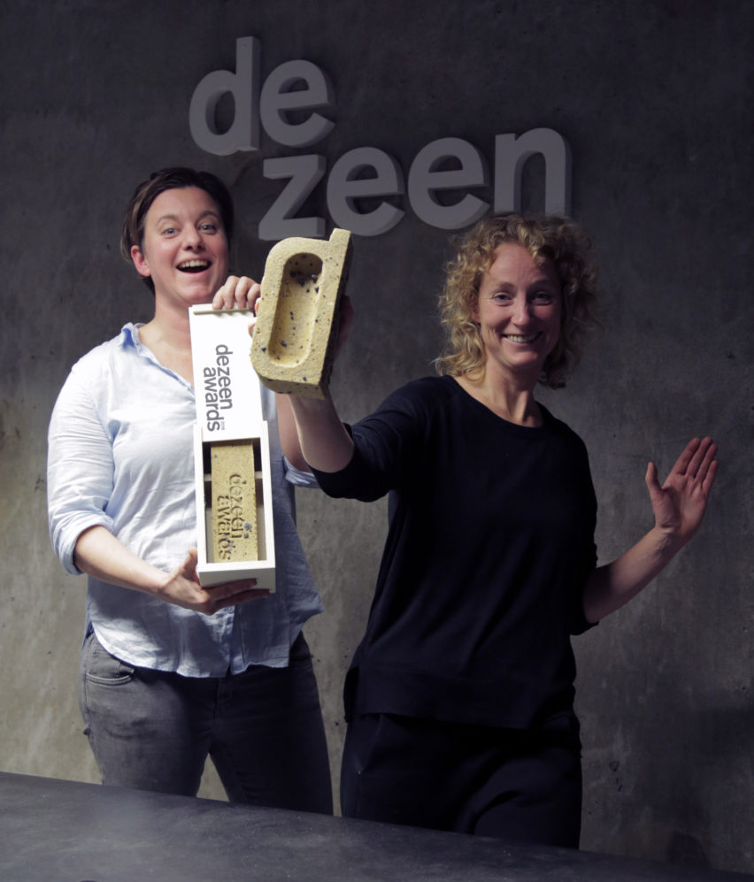 Atelier NL designed the Dezeen Awards trophies