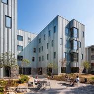 Deborah Berke Partners clads High Street Residence Hall in stone and zinc