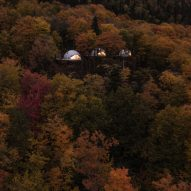 Eco-luxury domes by Bourgeois/Lechasseur peer out from Quebec forest