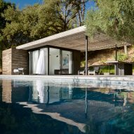 Pool house by Ro Rockett Design offers views of California wine country