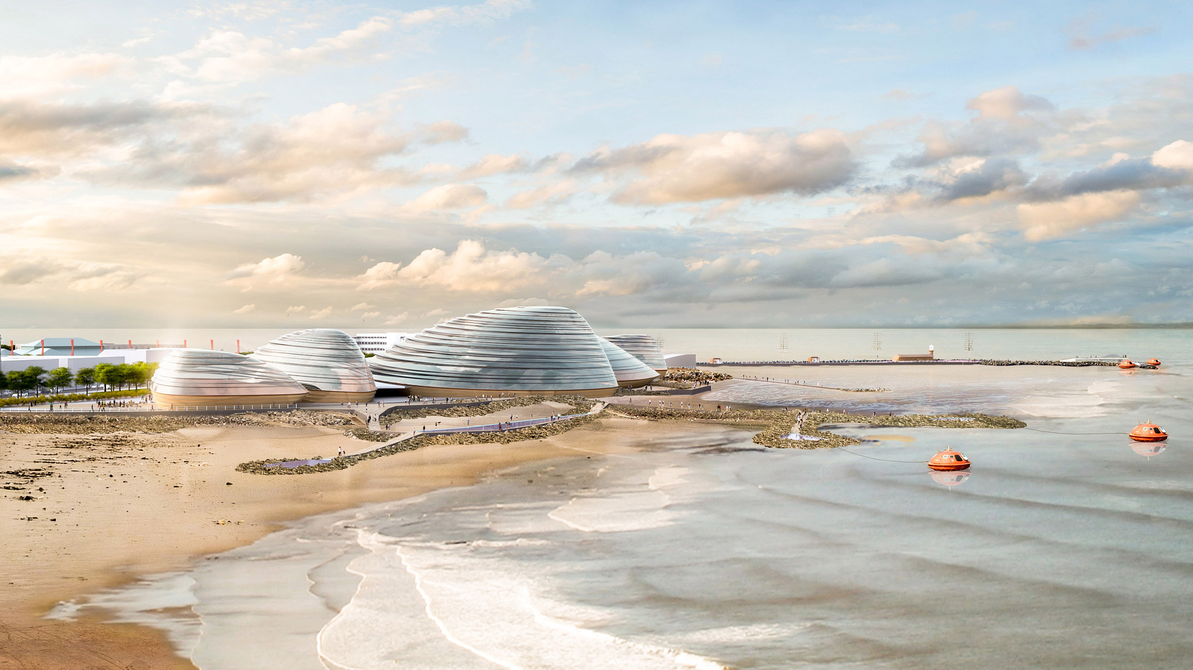 Eden Project North in Morecambe, Lancashire by Grimshaw Architects and The Eden Project