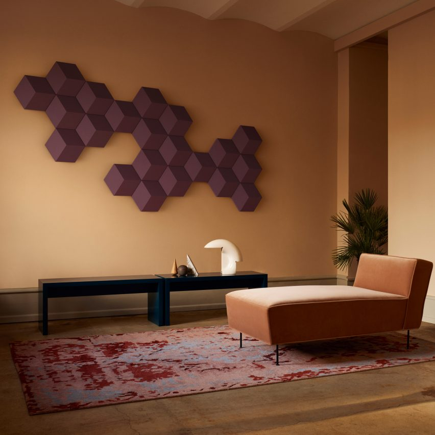 Fabric-covered gadgets: Bang & Olufsen speaker wall tiles