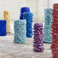 Erika Emeren uses Swedish spit-cake technique to create decorative vases