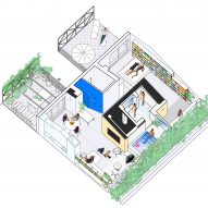 Axonometric of G House in Madrid by Gon Architects