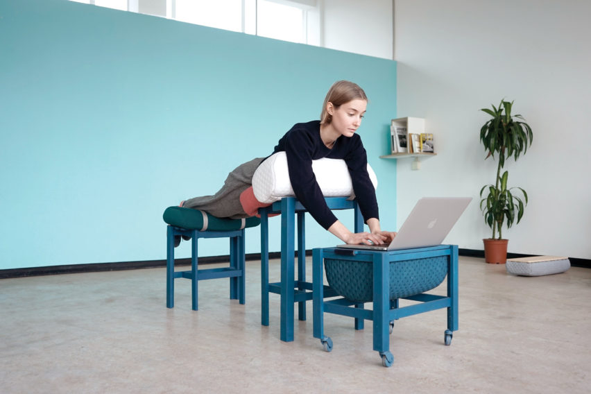 Geoffrey Pascal's Grafeiphobia office furniture collection imitates being in bed