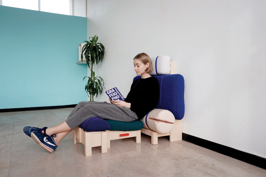 Grafeoiphobia by Geoffrey Pascal is a furniture collection based on beds