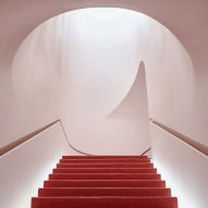 Glossier Flagship in New York includes soft-pink plasterwork and a Boy Brow Room