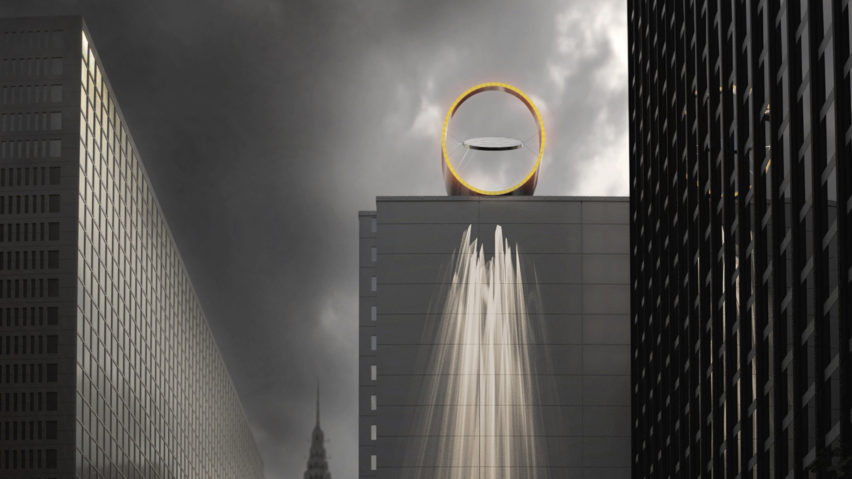 Haberdashery's large-scale lighting concept brings sunlight into shaded streets