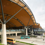 The Passenger Clearance Building by Rogers Stirk Harbour + Partners and Aedas in Hong Kong