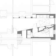 Ground floor plan of Janus House extension in London by Office S&M