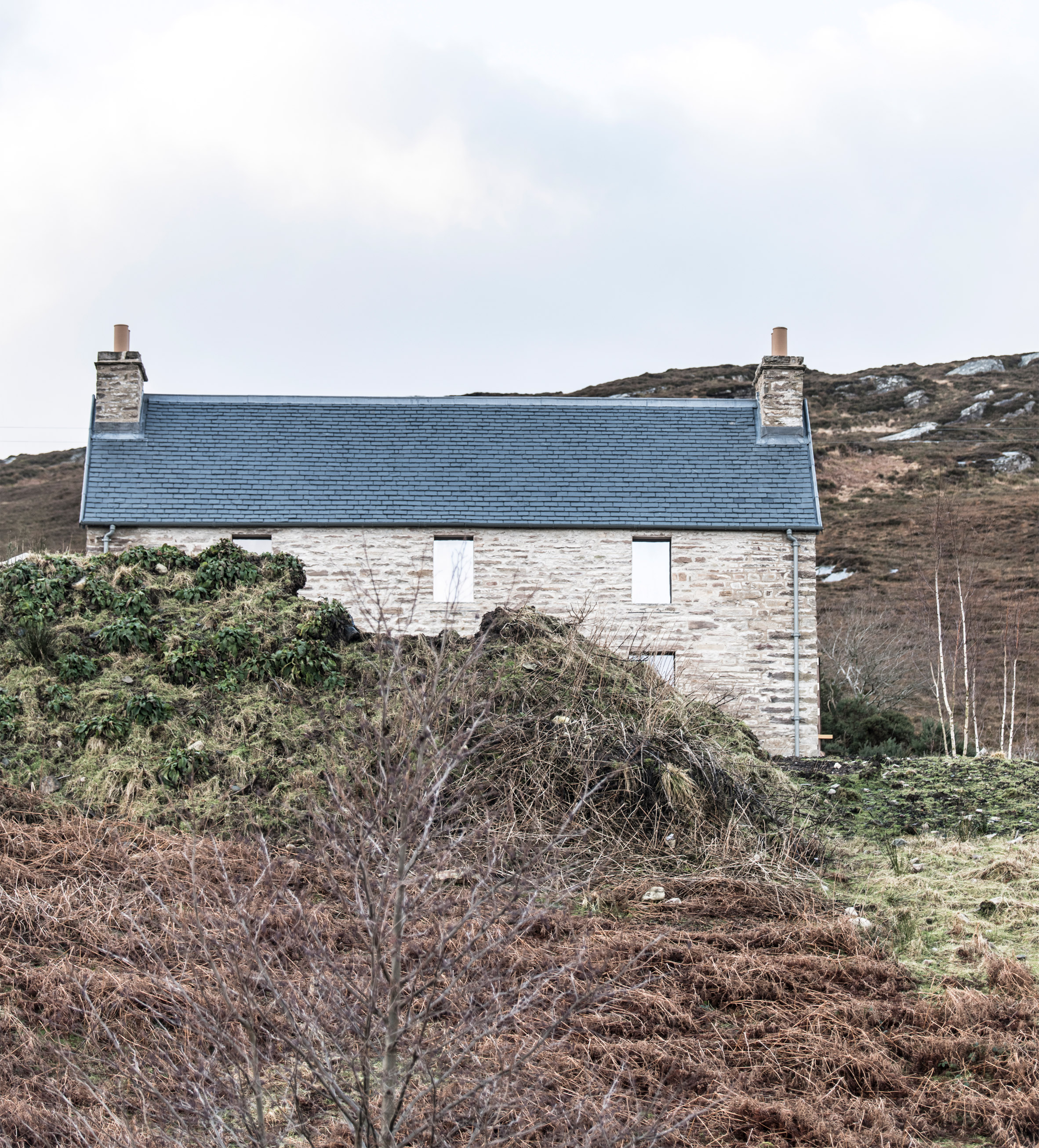 "Kyle House is a remote Scottish holiday home with a ""monastically simple"" interior"
