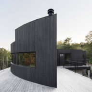 Six black houses in Canada by Alain Carle Architecte