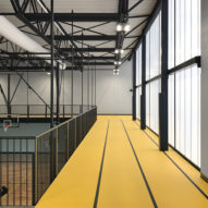 Yellow accents brighten Lone Tree Wellness Center by Neumann Monson