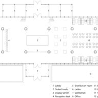 Ground floor plan of Elevation Longfu Life Experience Centre in the Henan Province of China by LUO Studio