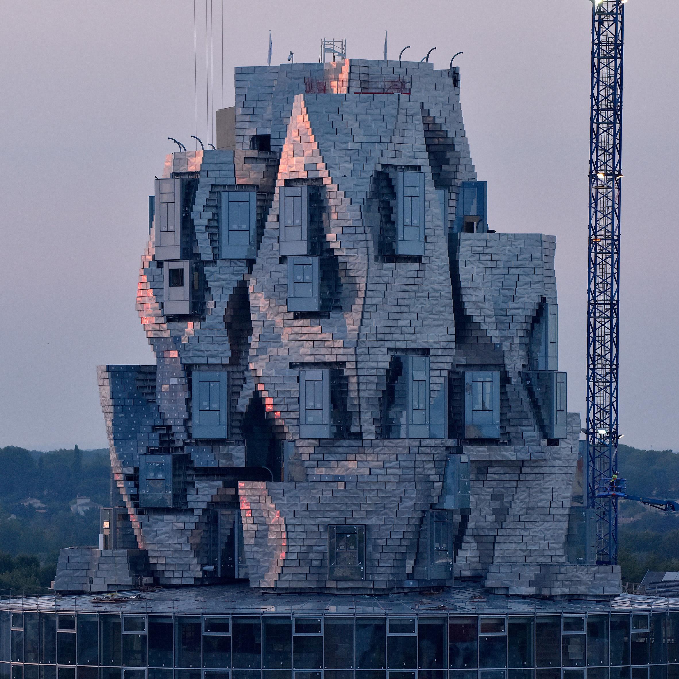 Atelier D Architecture Hervé Vincent frank gehry's aluminium-clad luma arles tower takes shape in