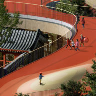 MAD unveils plans for kindergarten with red rooftop playground in Beijing