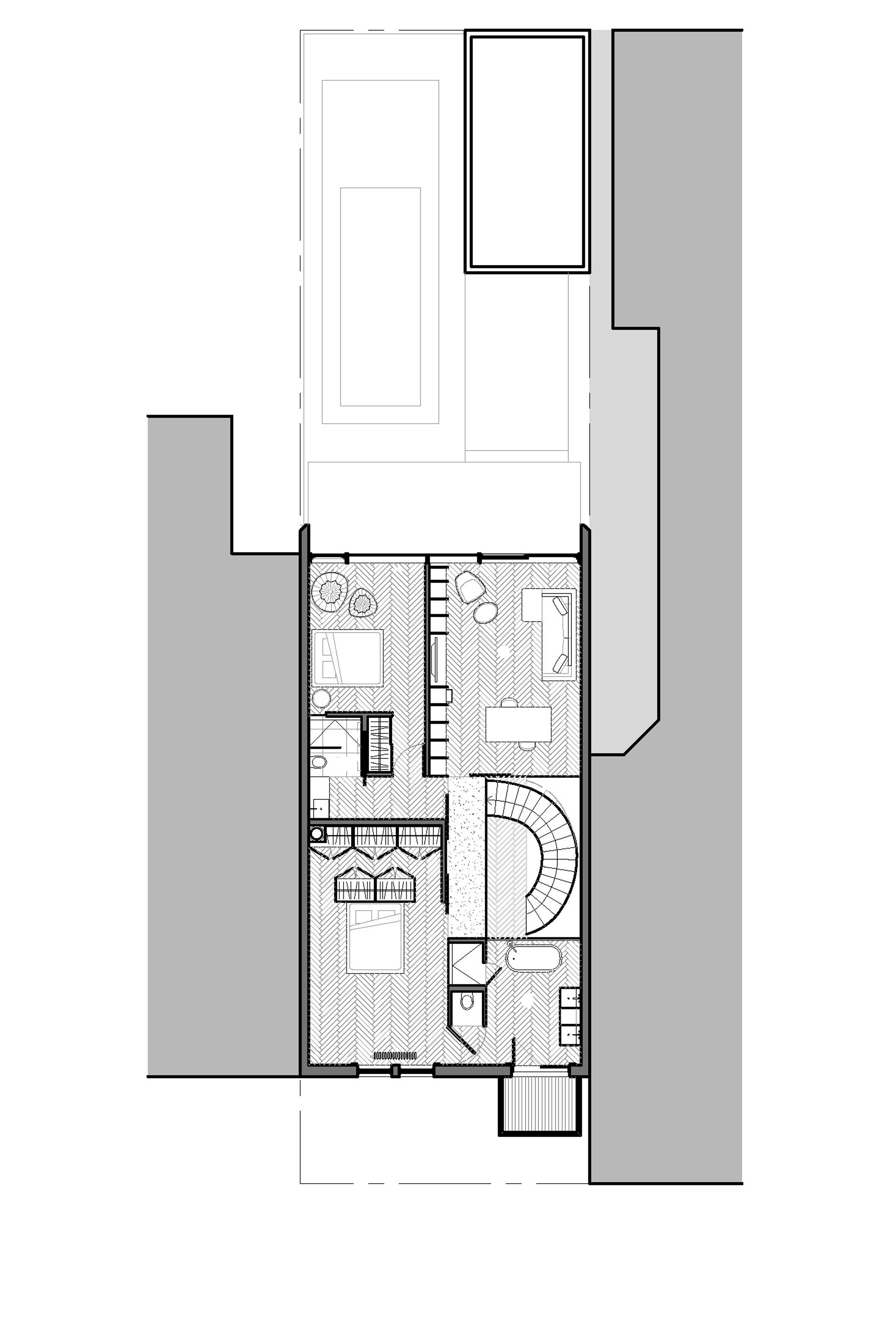 Ground floor pla maison du parc by la shed architecture