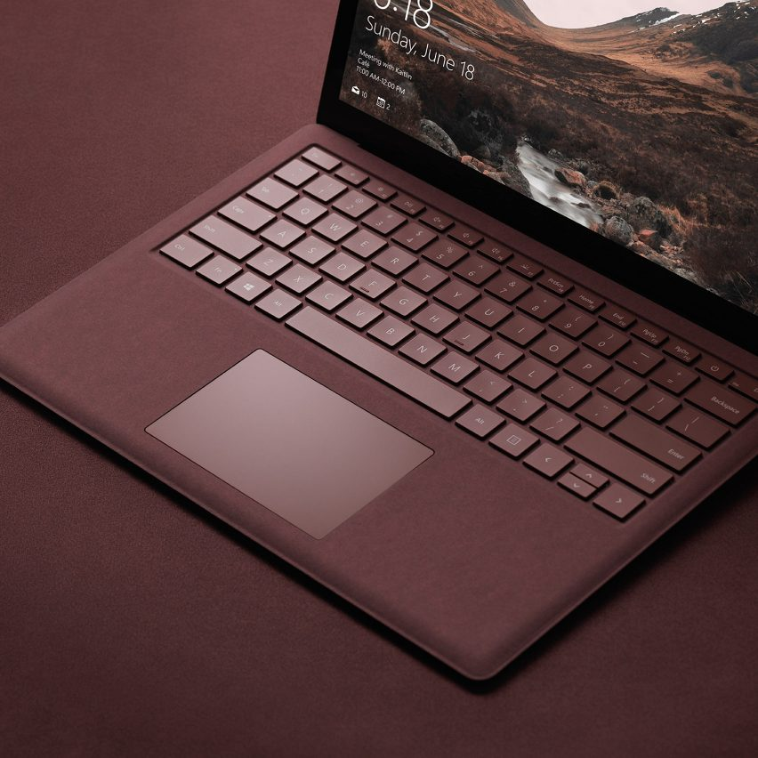 Fabric-covered gadgets: Microsoft Surface laptops