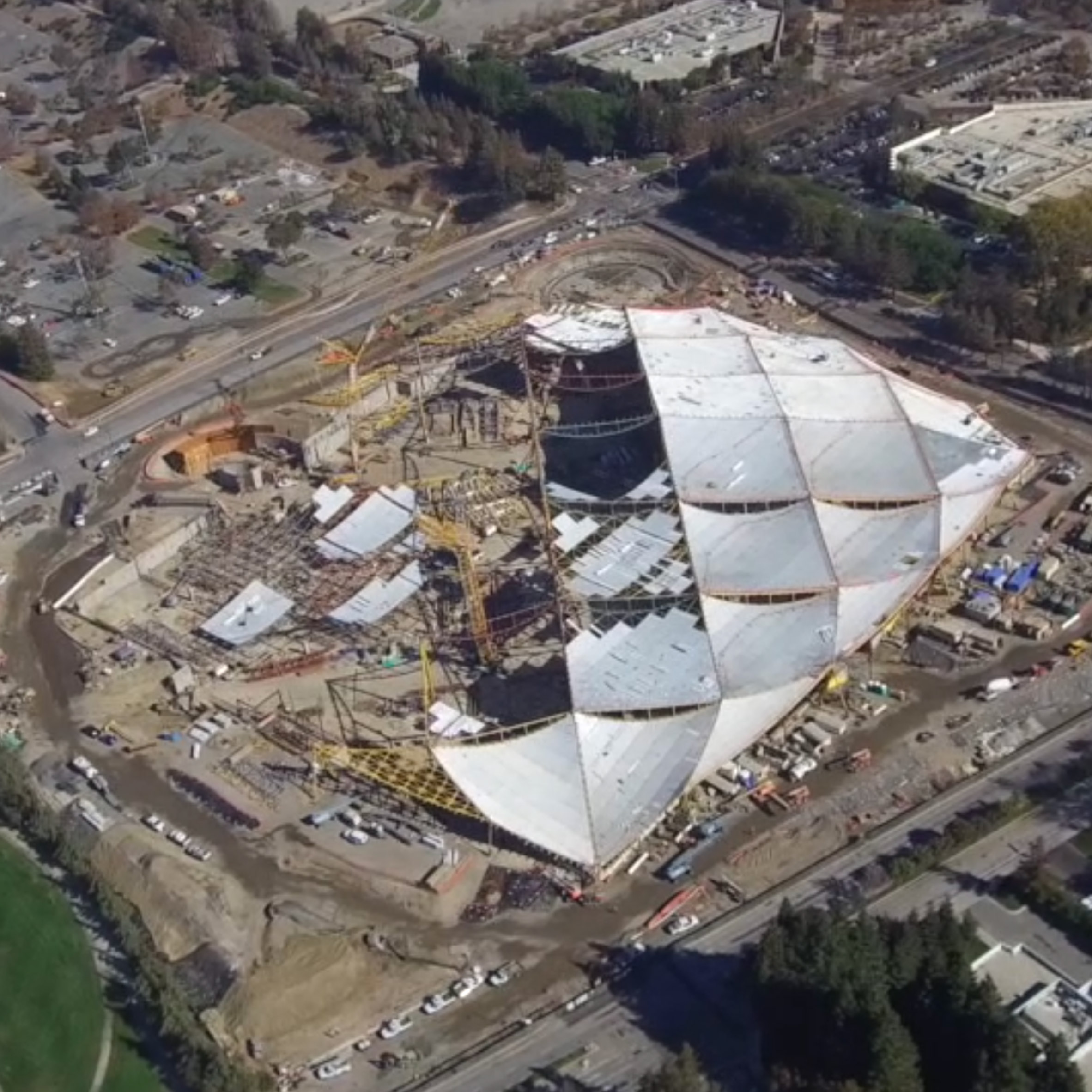 Movie shows BIG and Heatherwick's Google HQ taking shape