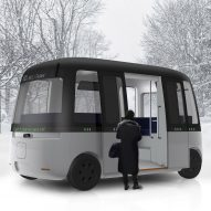 "Muji designs ""friendly"" autonomous shuttle bus for Finland"