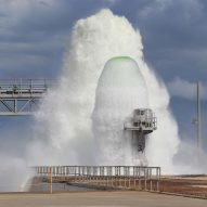 Watch NASA shoot 450,000 gallons of water 30 metres into the air