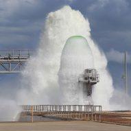 Watch NASA shoot 450,000 gallons of water 30 metres into the air