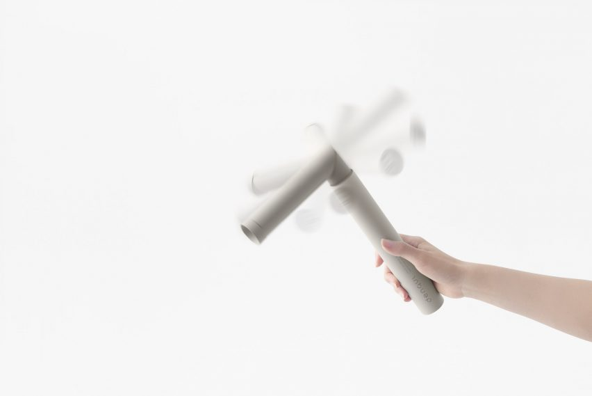 Nendo designs emergency portable battery that can be charged by hand