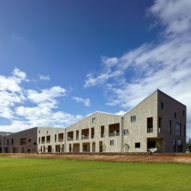 Traditional fabric influences patterns across Universityof Hawaii building by Perkins+Will