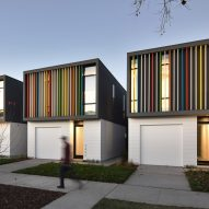 Colourful louvres animate Johnsen Schmaling's Oak Park Housing in northern California
