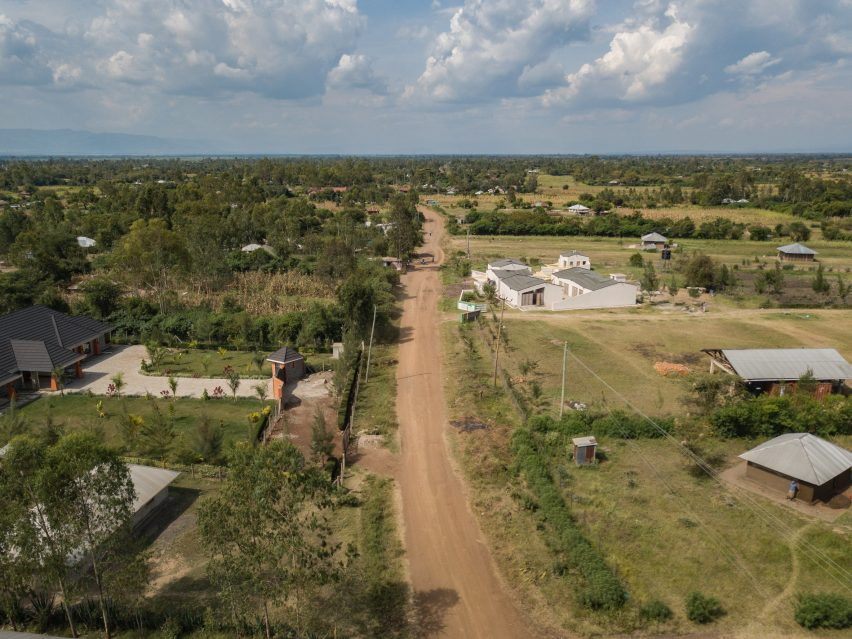 Aerial view of the Okana Centre for Change in Kenya, by Laura Katharina Straehle and Ellen Rouwendal