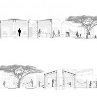 Section of the Okana Centre for Change in Kenya, by Laura Katharina Straehle and Ellen Rouwendal