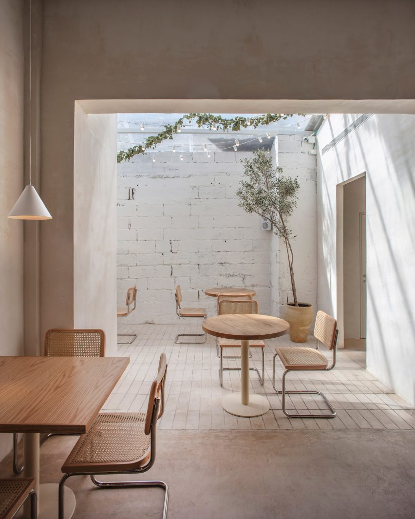 Interiors of Tel Aviv's Opa restaurant, designed by Craft & Bloom and Vered Kadouri