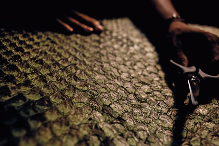 Oskar Metsavaht uses fish skins to make fashion garments