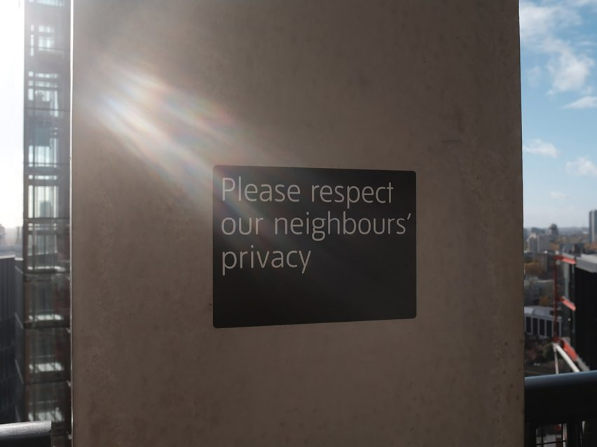 Please Respect Our Neighbours Privacy by Max Siedentopf